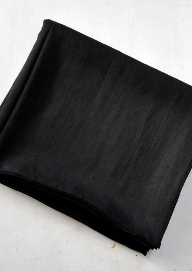 drap en lin noir - VDJ HOME
