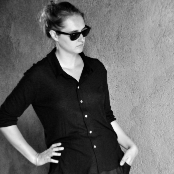 Unisex shirt, black bamboo