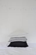 Taie d'oreiller en lin fin blanc