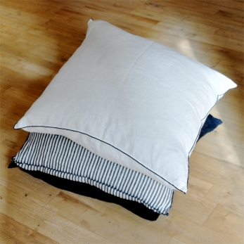 Pillow case, fine white linen