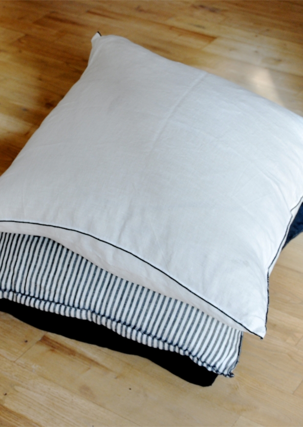 Pillow case, fine white linen