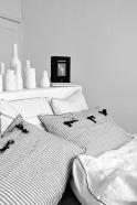 Pillow case, light stripes linen