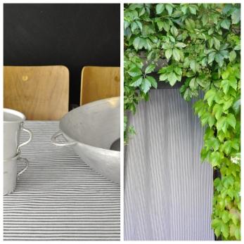 Cloth, light stripes linen