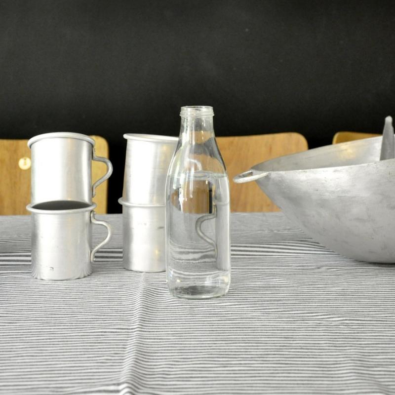drap lin rayures claires le vestiaire de jeanne sarl. Black Bedroom Furniture Sets. Home Design Ideas
