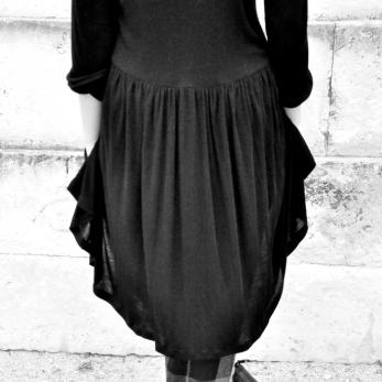 Robe-chemise, bambou noir