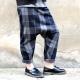 Pantalon sarouel, drap écossais