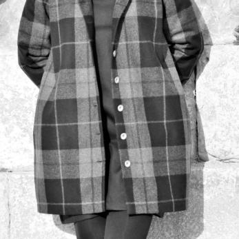 Manteau, drap écossais