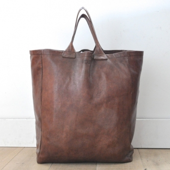 brown leather bag, size 3, VDC for la Liane