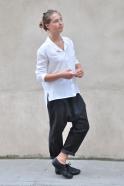 Unisex shirt, white silk