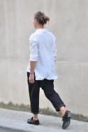 Chemise mixte, soie blanche