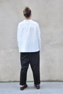 Pantalon à poches, lainage noir