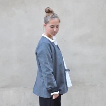 """Veste """"femme"""", lainage gris"""