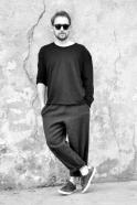 Pantalon classique, drap gris