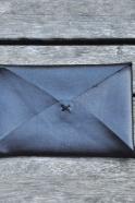 Card holder ORIGAMI, black leather