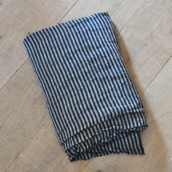 Cloth, dark stripes linen