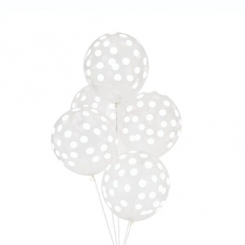 White printed ballons