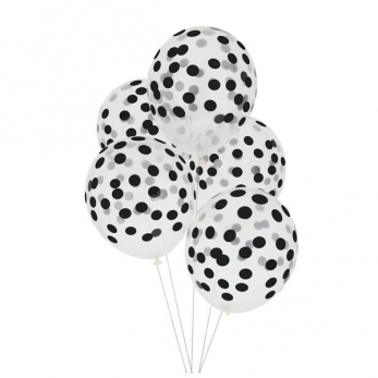 Black printed ballons