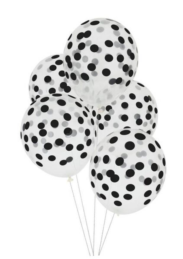 Black printed ballons