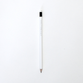 Wooden pencil, white