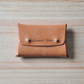 Card holder LOUP, brown leather