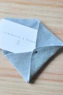 Card holder ORIGAMI, light grey leather