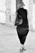 Chemise sans manche, soie noire