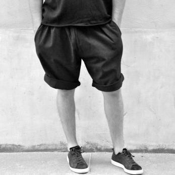Short mixte, coton noir