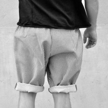 Unisex short, polka dots cotton