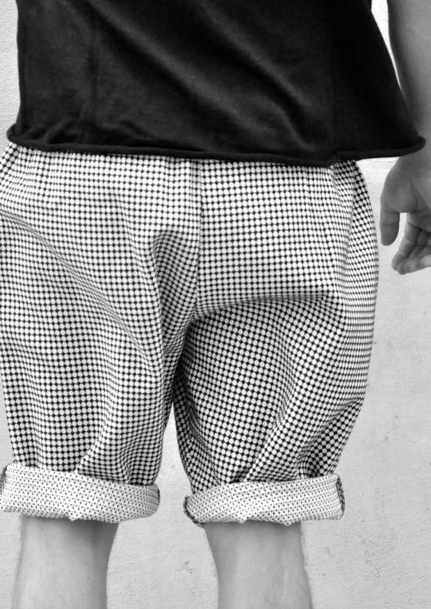 Short mixte, coton à pois