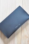 Checkbook holder NICOLAS, black leather