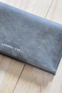 Checkbook holder NICOLAS, taupe leather