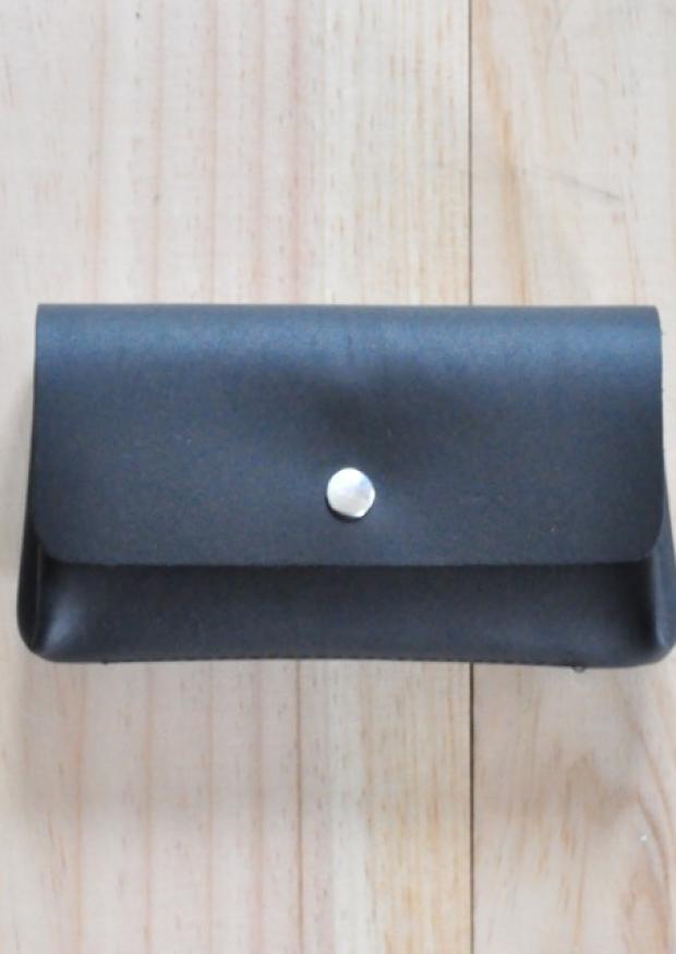 Portefeuille OCTAVE, cuir noir