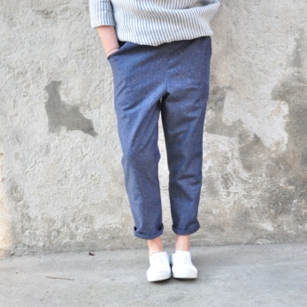Pocket trousers, blue denim