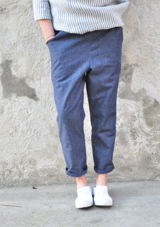 Pocket trousers, blue denim