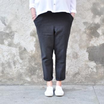 Pantalon à poches, coton noir