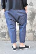 Saroual trousers, blue jean