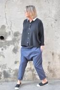 Pantalon sarouel, jean bleu