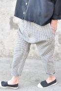 Pantalon sarouel, coton à pois