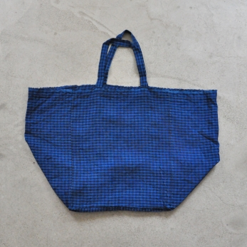 Big bag, gingham linen