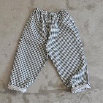 Pantalon classique, coton à pois