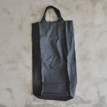 Long bag, black waxed canvas