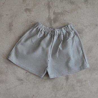 Short, coton à pois