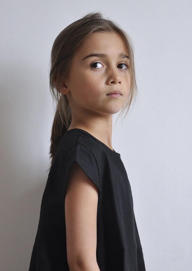 Blouse manches courtes Uniforme,lin noir