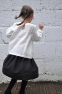 Blouse Uniforme, lin blanc