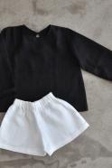 Uniform blouse, black linen