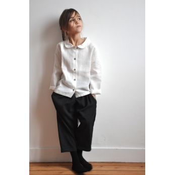 Uniform shirt, white linen