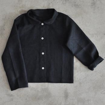 Chemise Uniforme, lin noir