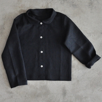 Uniform shirt, black linen