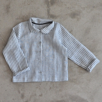 Uniform shirt, light stripes linen