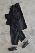 Chemise mixte, lin noir